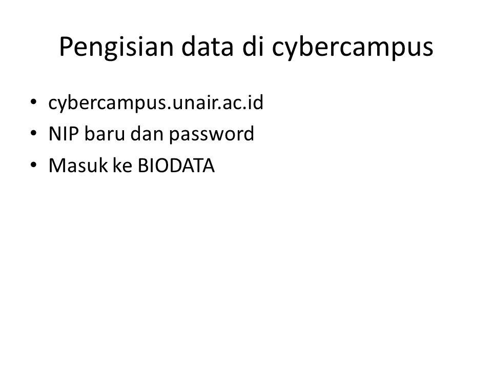 Pengisian data di cybercampus