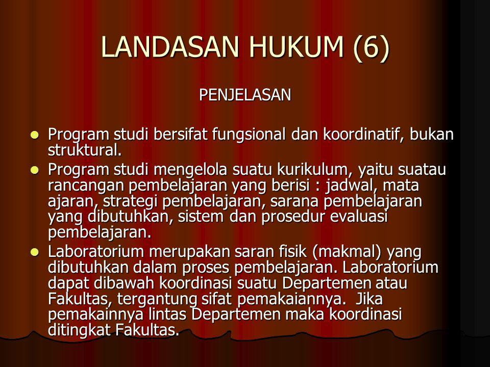 LANDASAN HUKUM (6) PENJELASAN
