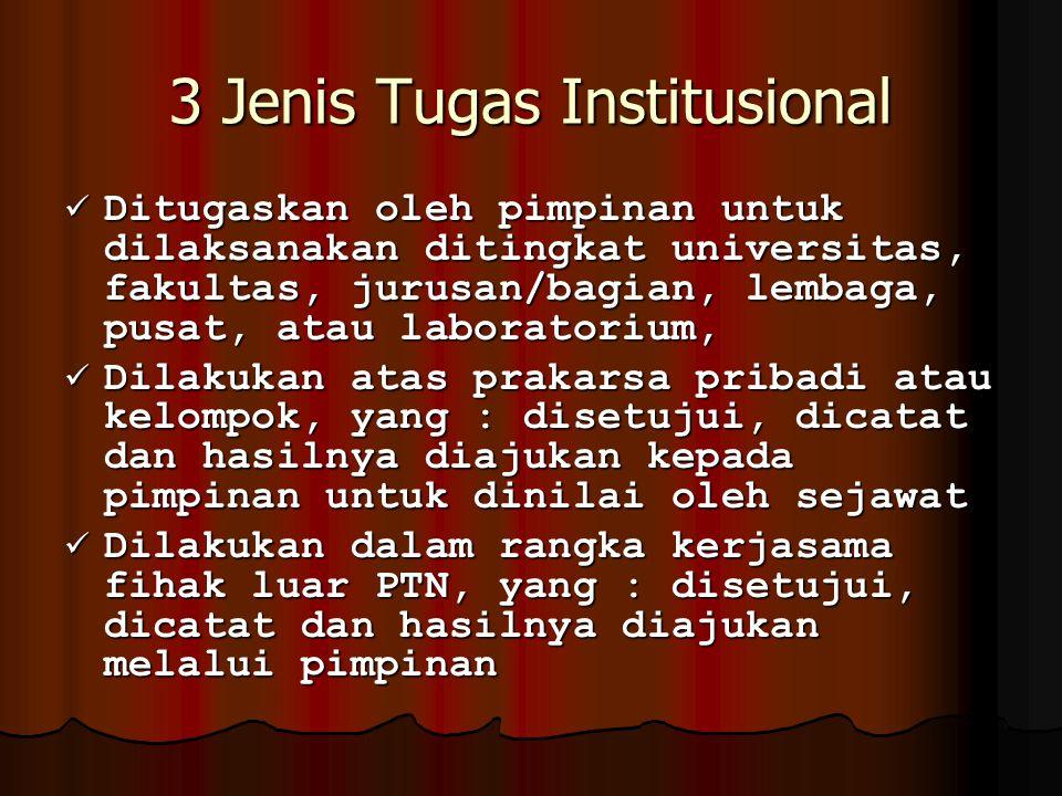 3 Jenis Tugas Institusional