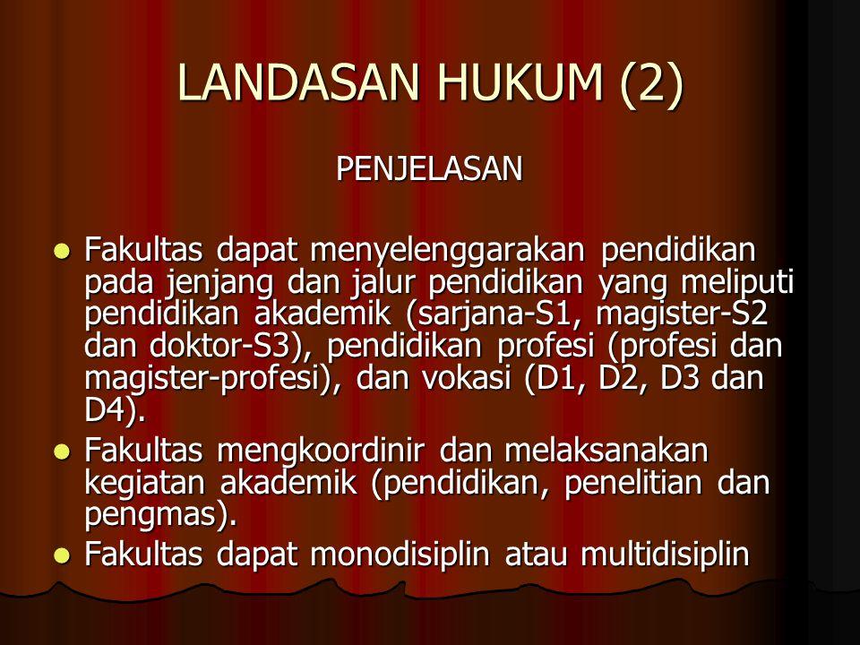 LANDASAN HUKUM (2) PENJELASAN