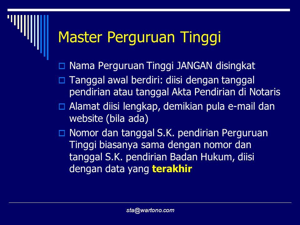 Master Perguruan Tinggi