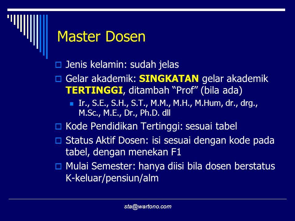 Master Dosen Jenis kelamin: sudah jelas