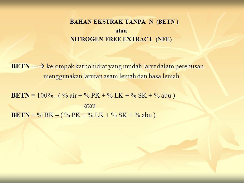 NITROGEN FREE EXTRACT (NFE)