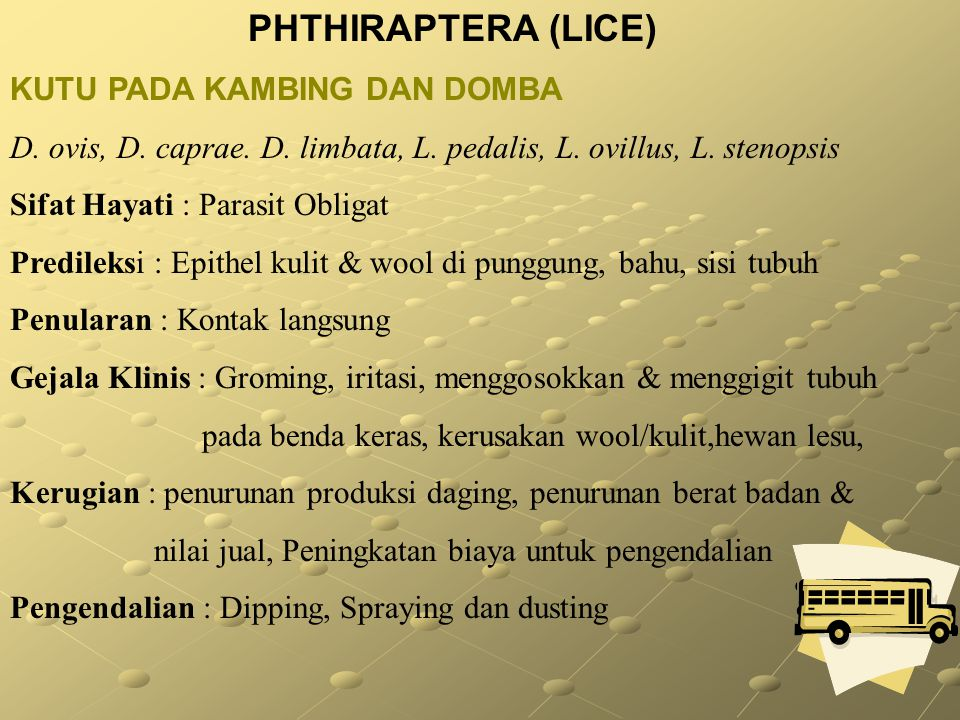 PHTHIRAPTERA (LICE) KUTU PADA KAMBING DAN DOMBA