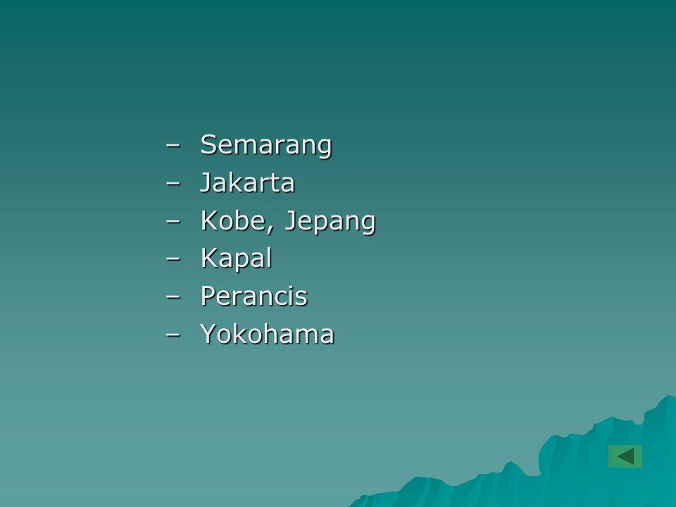 Semarang Jakarta Kobe, Jepang Kapal Perancis Yokohama