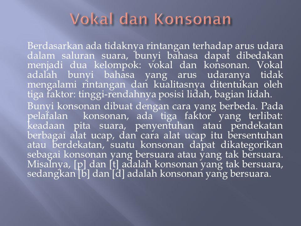 Vokal dan Konsonan