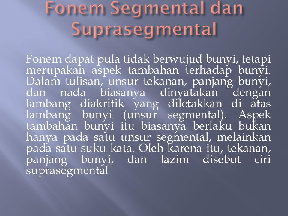 Fonem Segmental dan Suprasegmental