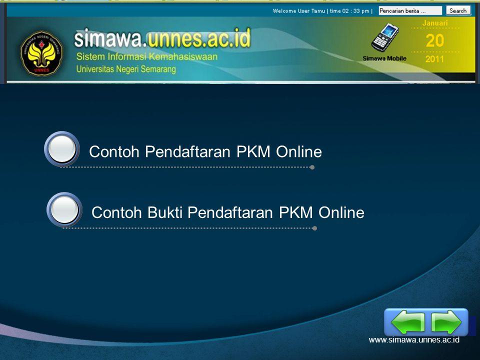 Contoh Pendaftaran PKM Online