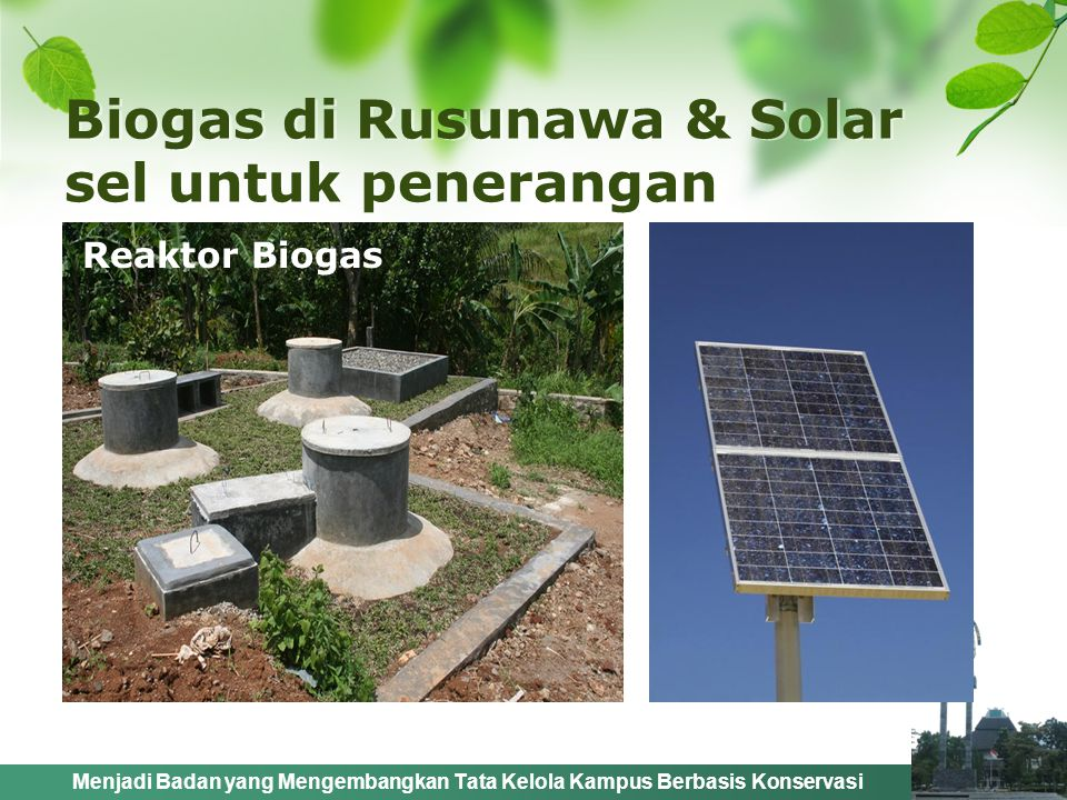 Biogas di Rusunawa & Solar sel untuk penerangan