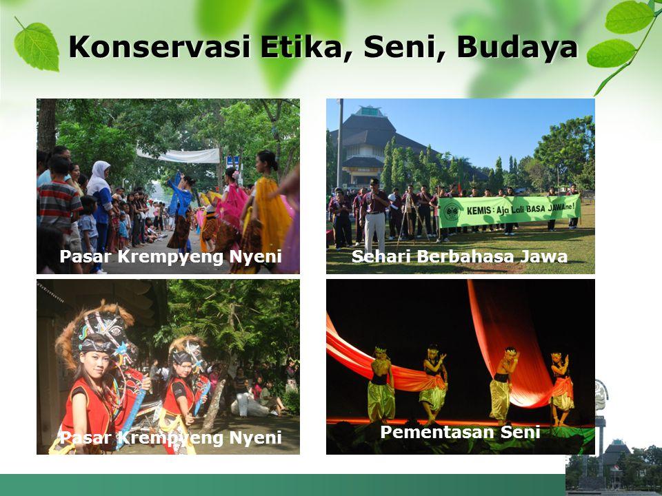 Konservasi Etika, Seni, Budaya