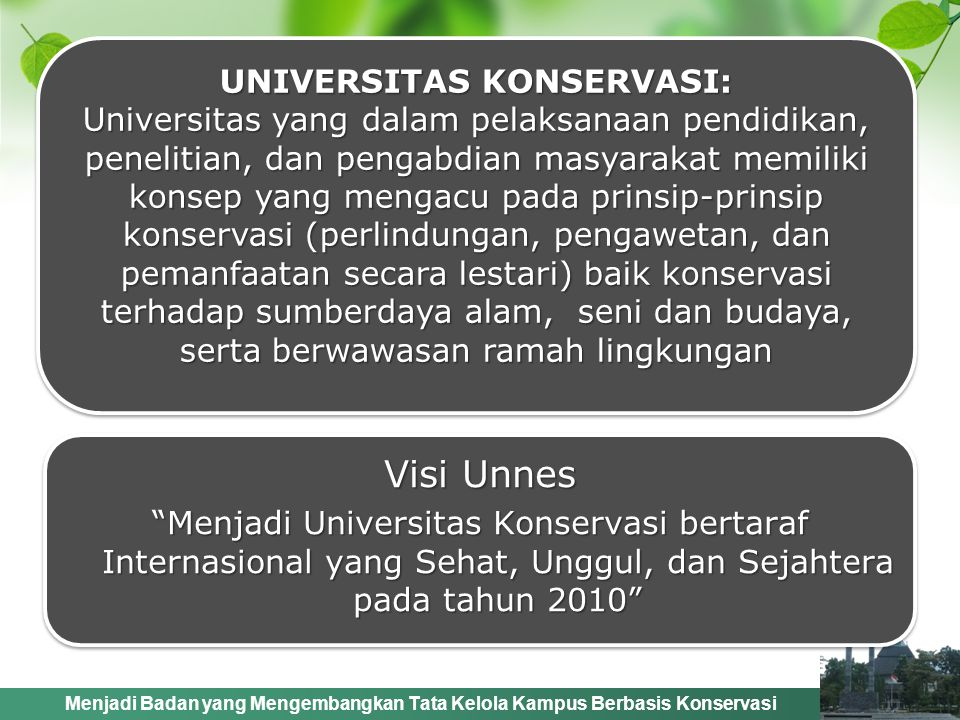 UNIVERSITAS KONSERVASI: