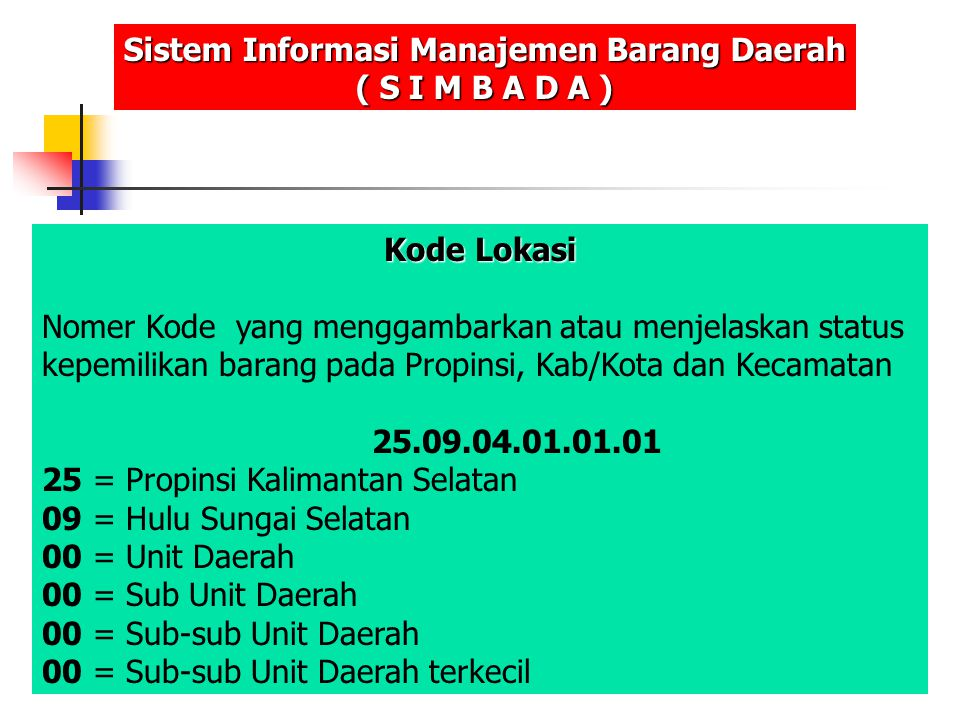 Sistem Informasi Manajemen Barang Daerah