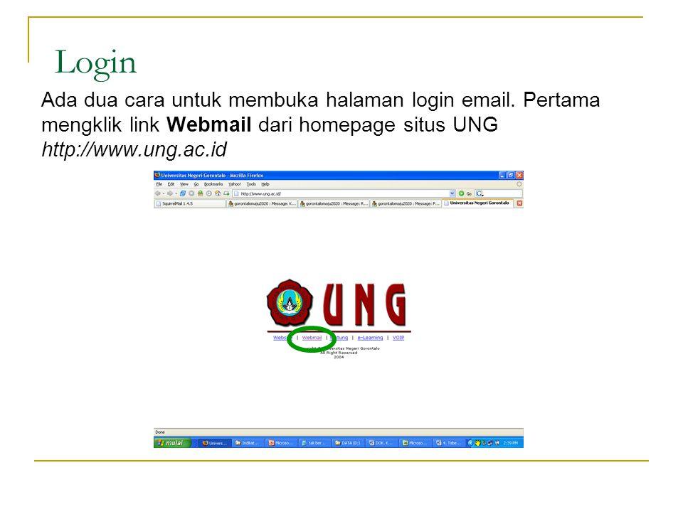 Login Ada dua cara untuk membuka halaman login email.