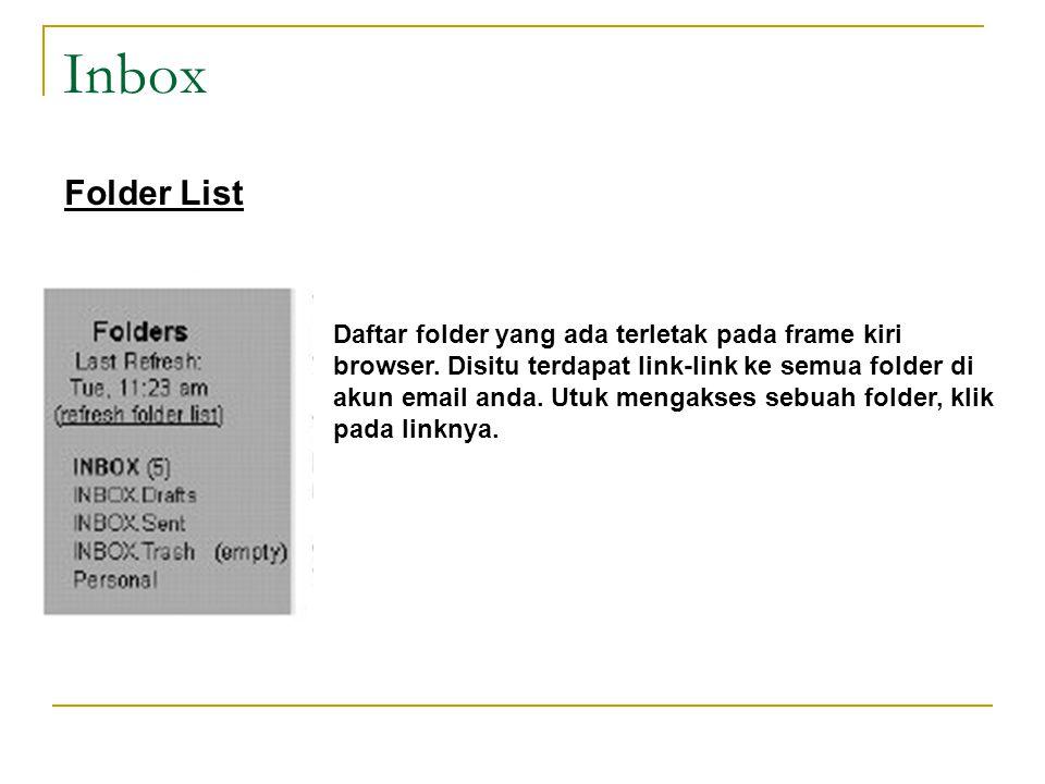 Inbox Folder List.