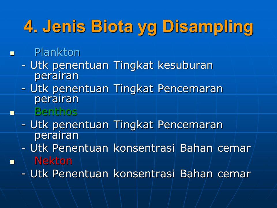 4. Jenis Biota yg Disampling