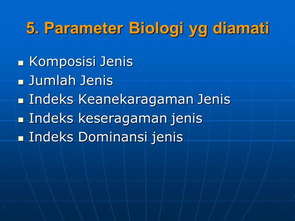 5. Parameter Biologi yg diamati