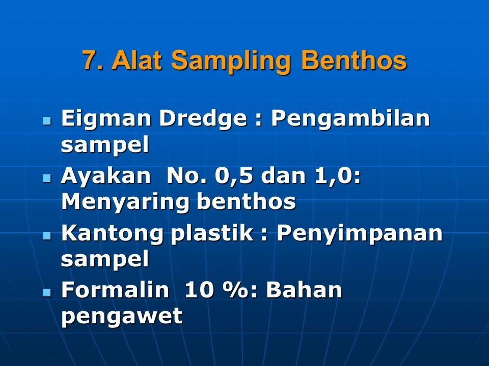 7. Alat Sampling Benthos Eigman Dredge : Pengambilan sampel