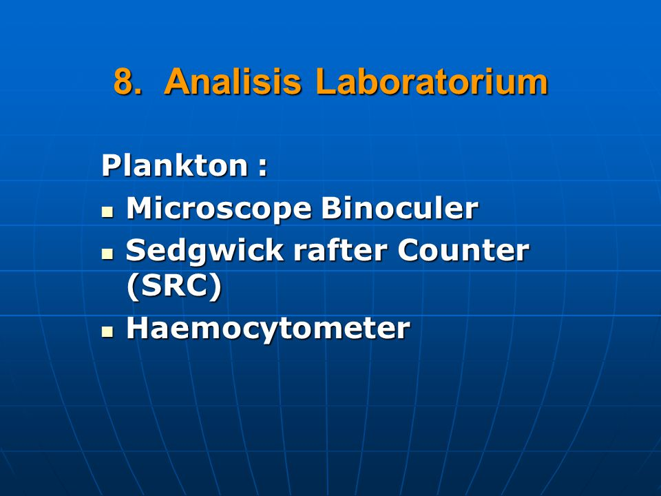 8. Analisis Laboratorium