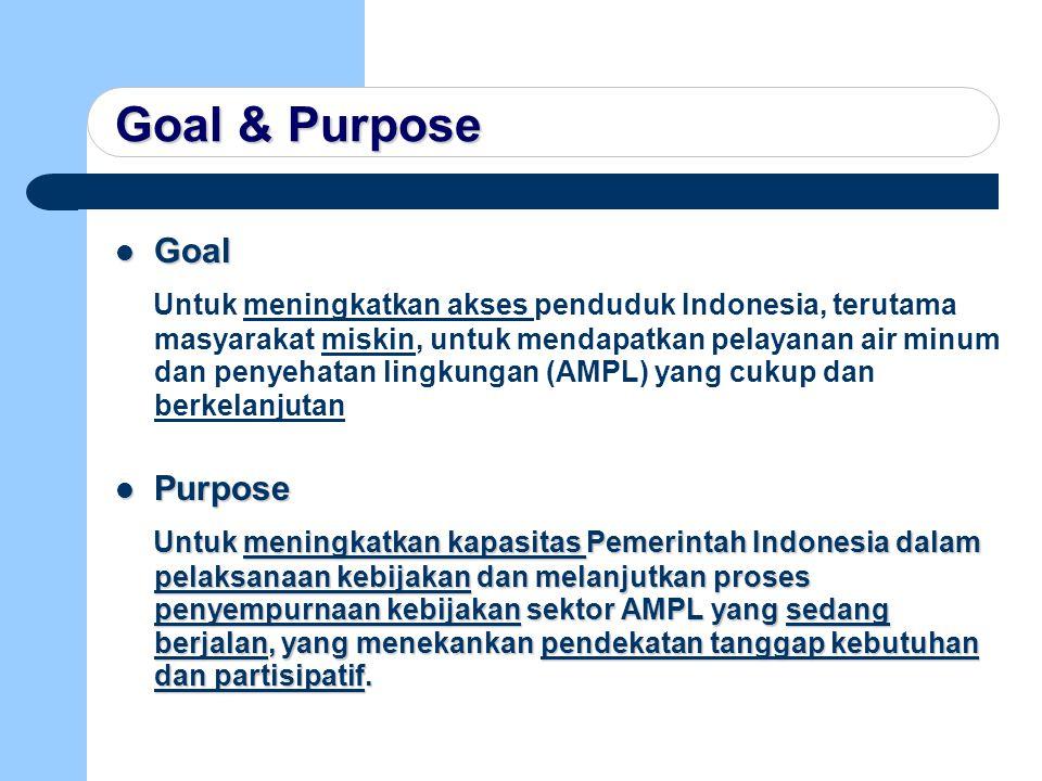 Goal & Purpose Goal.