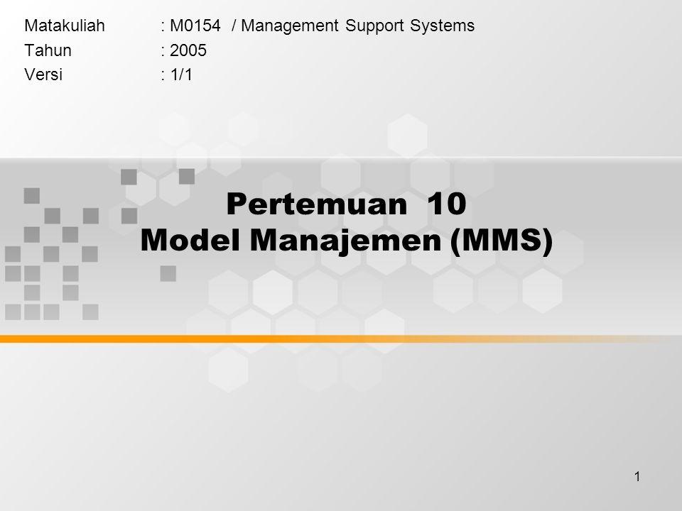 Pertemuan 10 Model Manajemen (MMS)