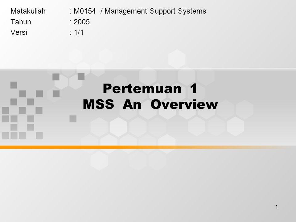 Pertemuan 1 MSS An Overview