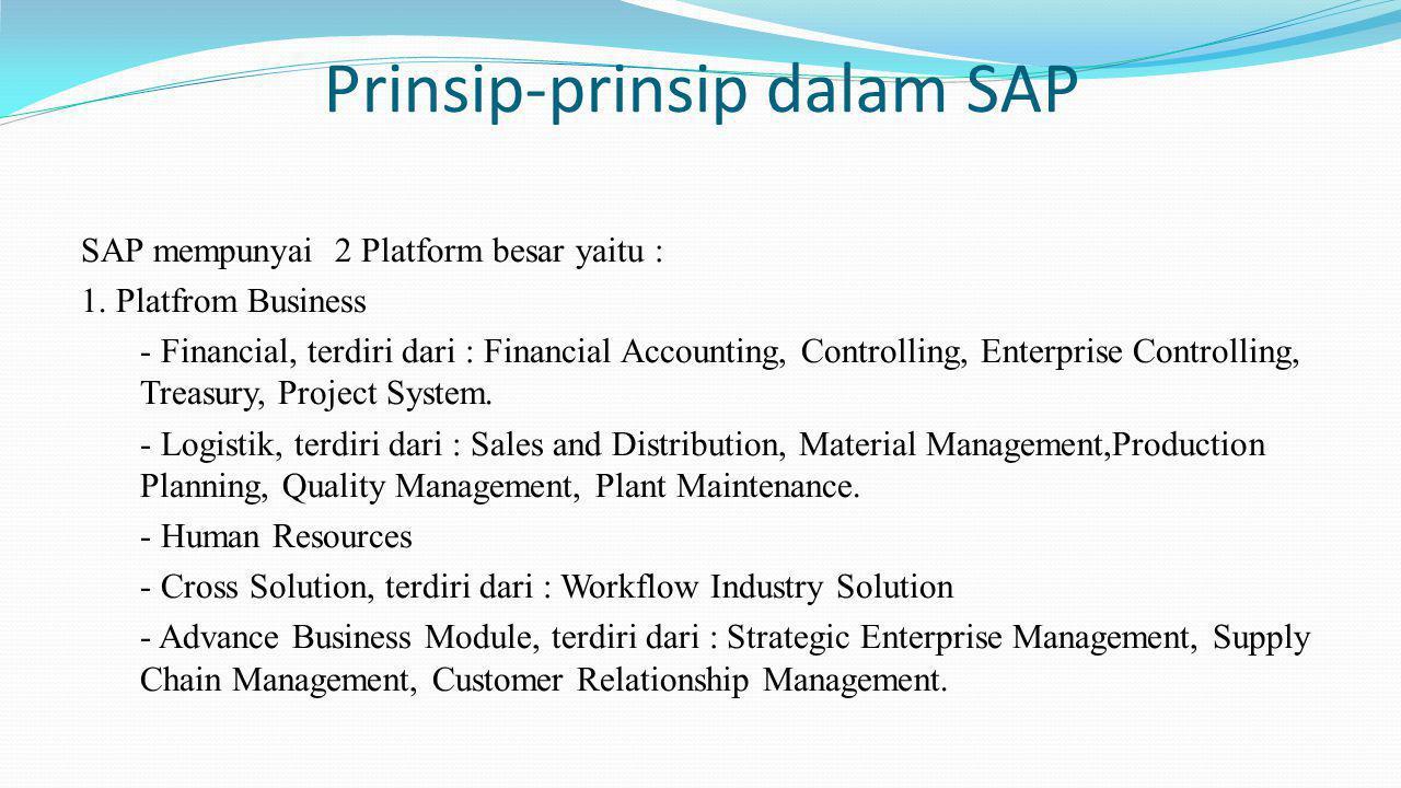 Prinsip-prinsip dalam SAP