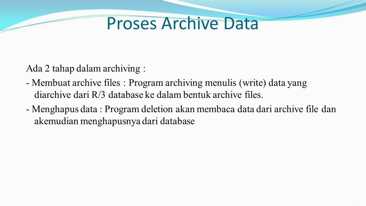 Proses Archive Data