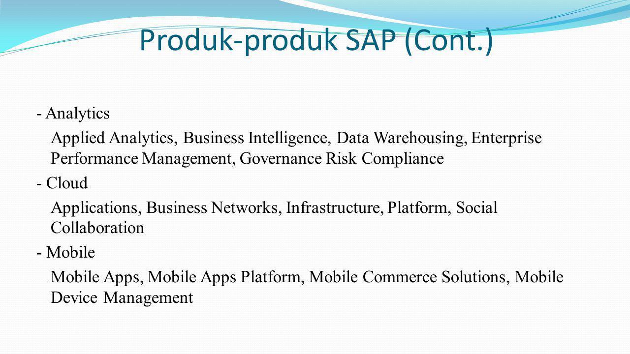 Produk-produk SAP (Cont.)