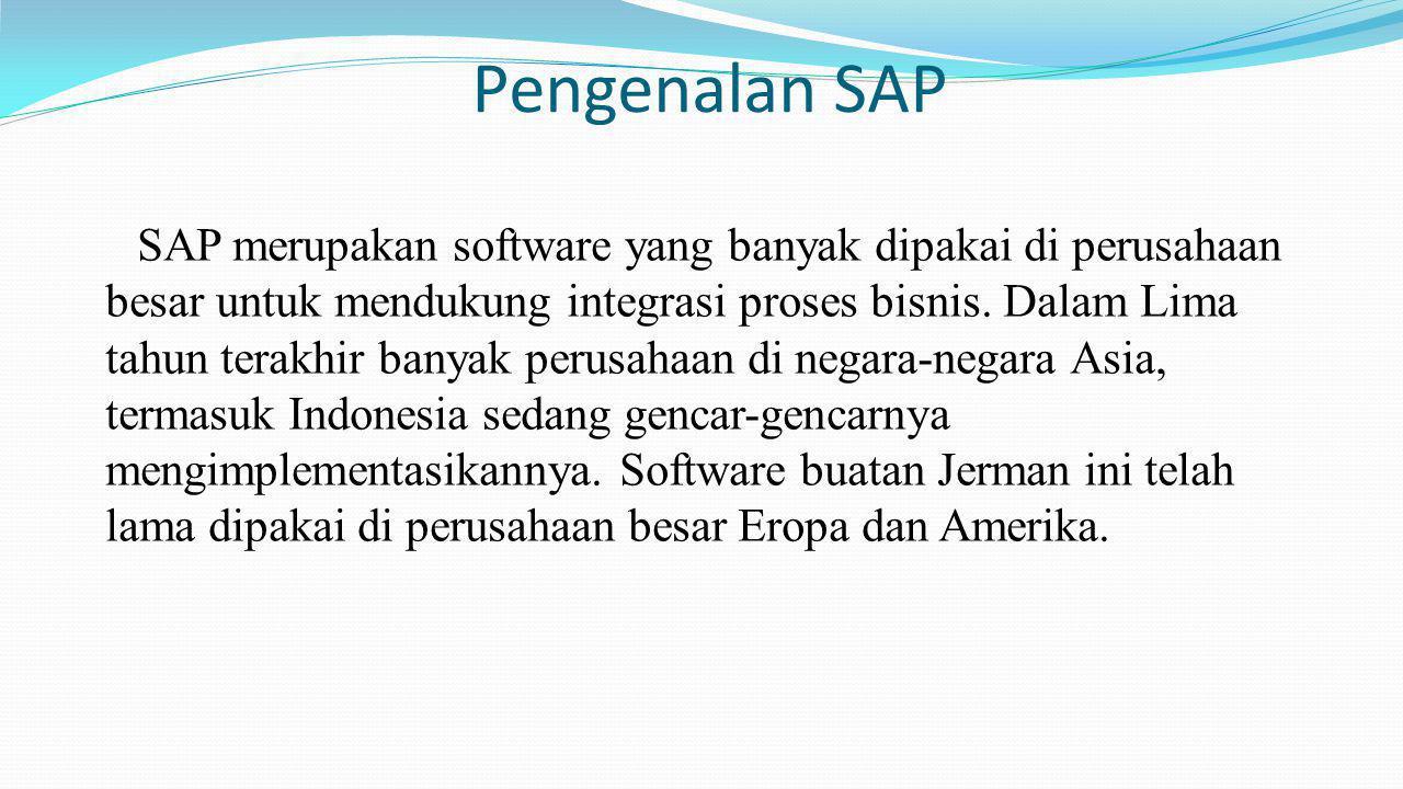 Pengenalan SAP