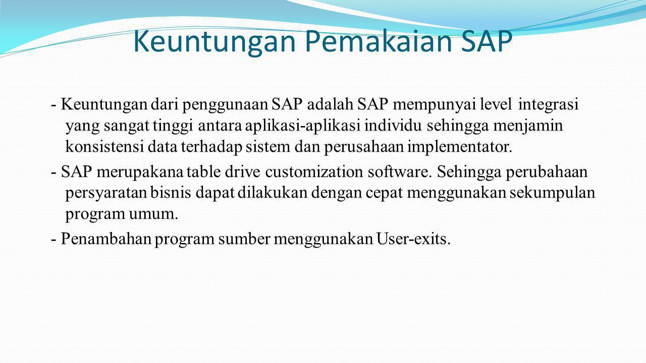 Keuntungan Pemakaian SAP