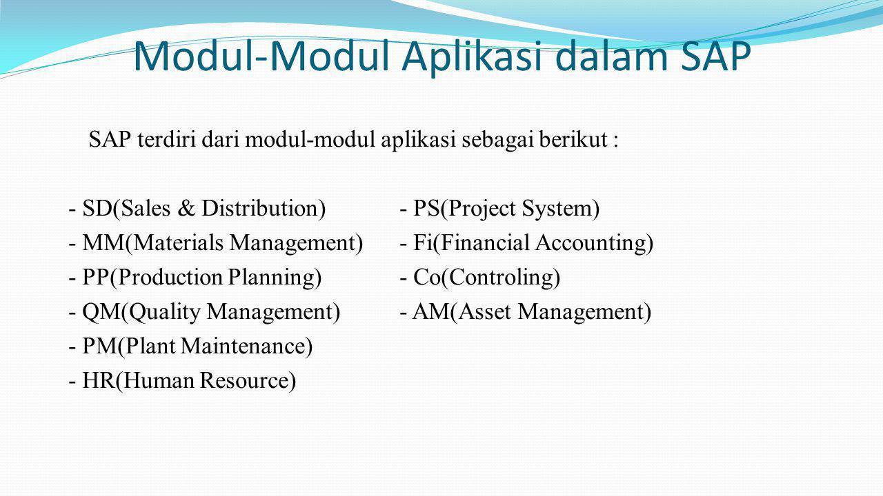 Modul-Modul Aplikasi dalam SAP