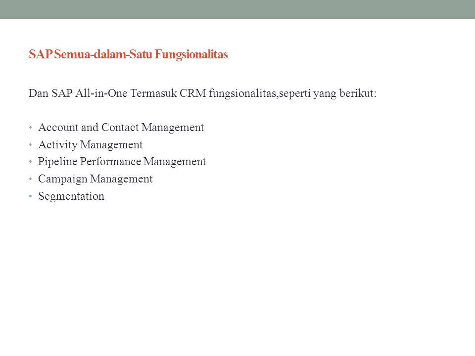 SAP Semua-dalam-Satu Fungsionalitas