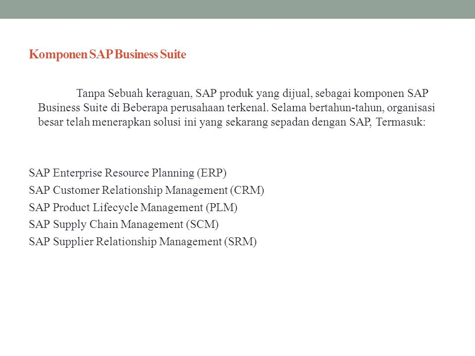 Komponen SAP Business Suite