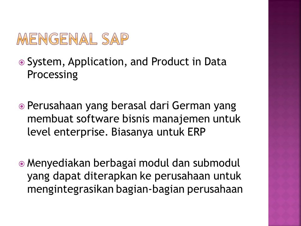 Mengenal SAP System, Application, and Product in Data Processing