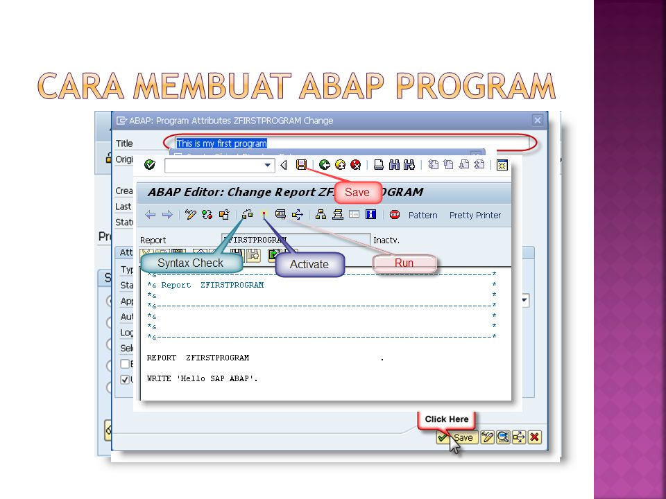 Cara membuat ABAP program