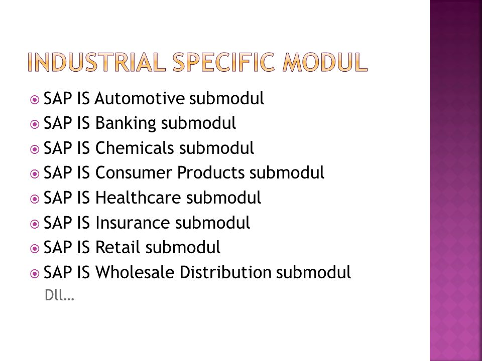 Industrial Specific Modul