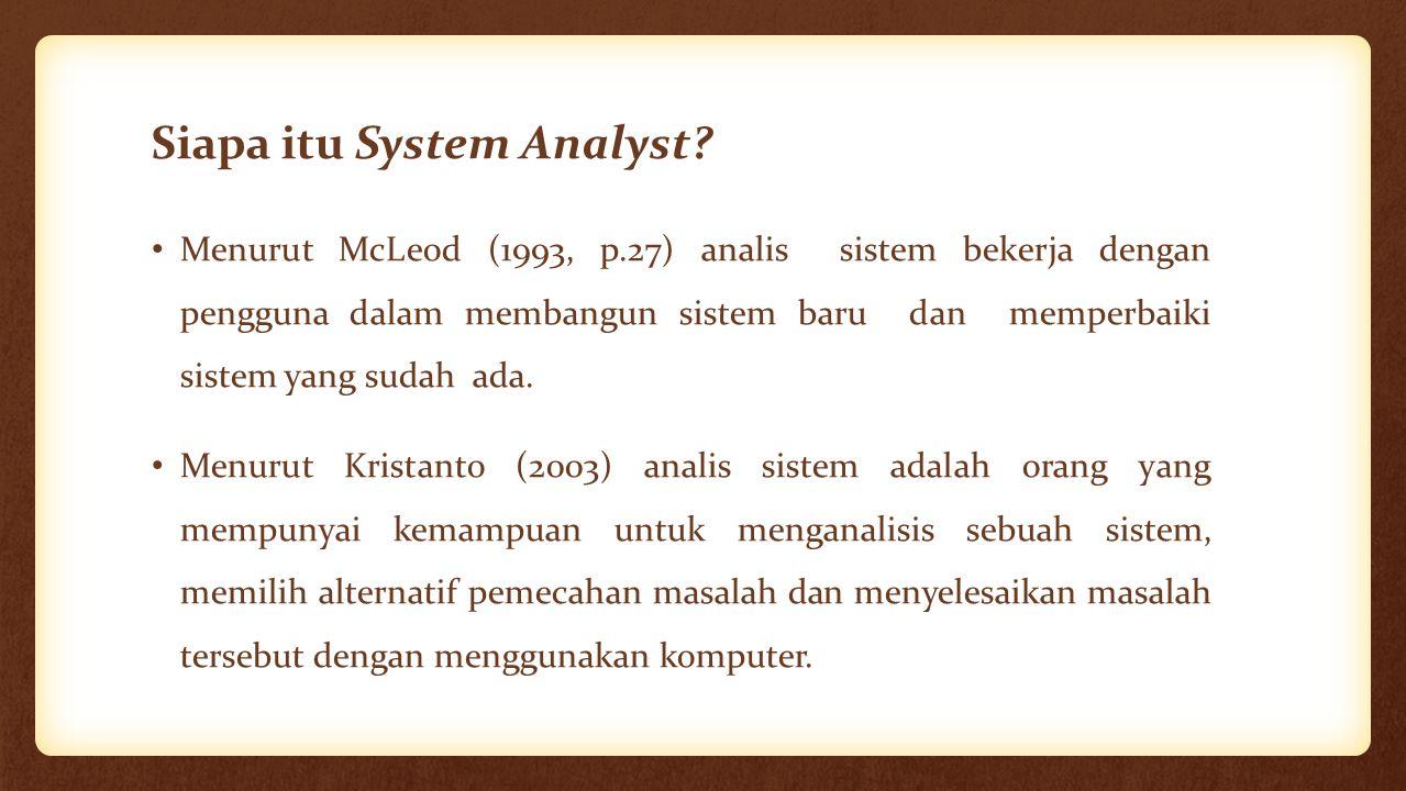 Siapa itu System Analyst