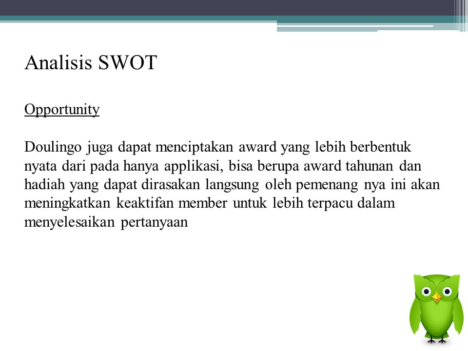 Analisis SWOT Opportunity