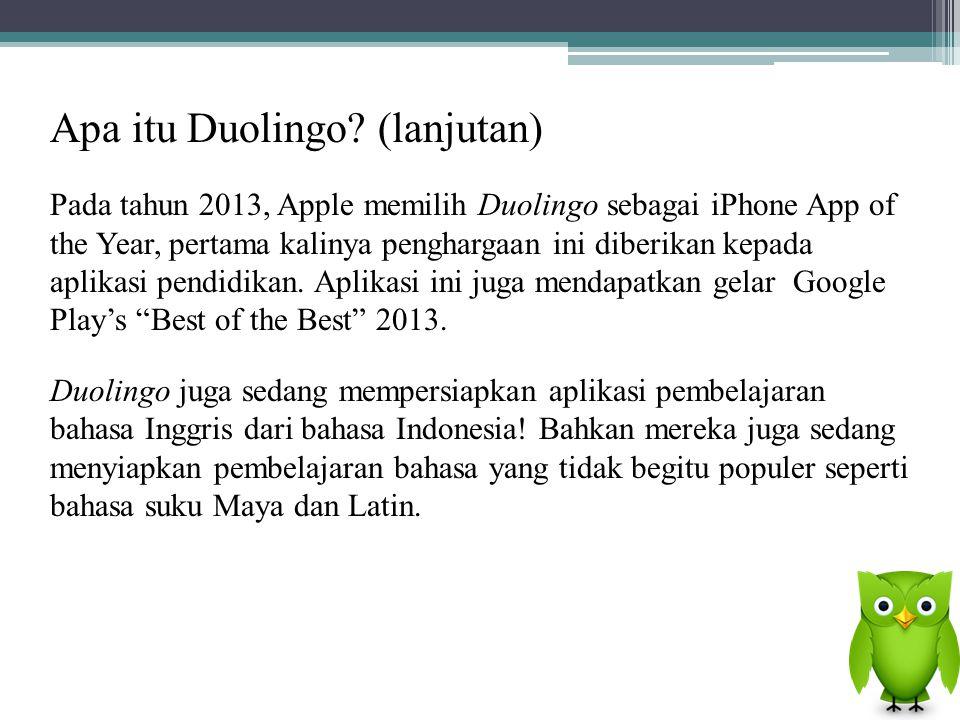Apa itu Duolingo (lanjutan)