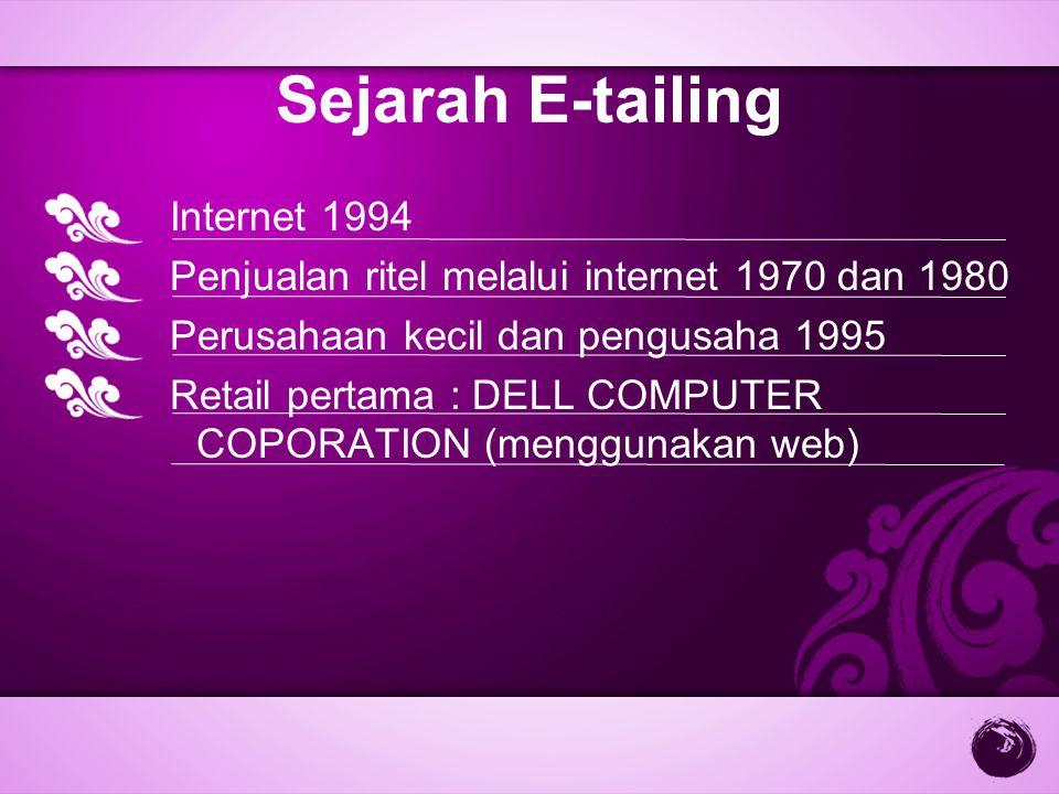 Sejarah E-tailing