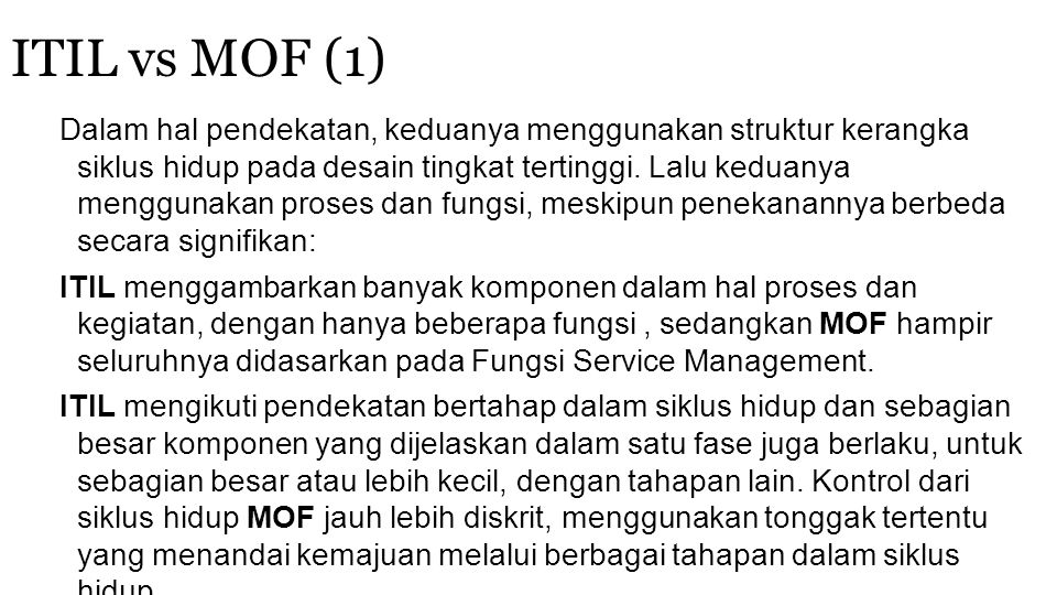 ITIL vs MOF (1)