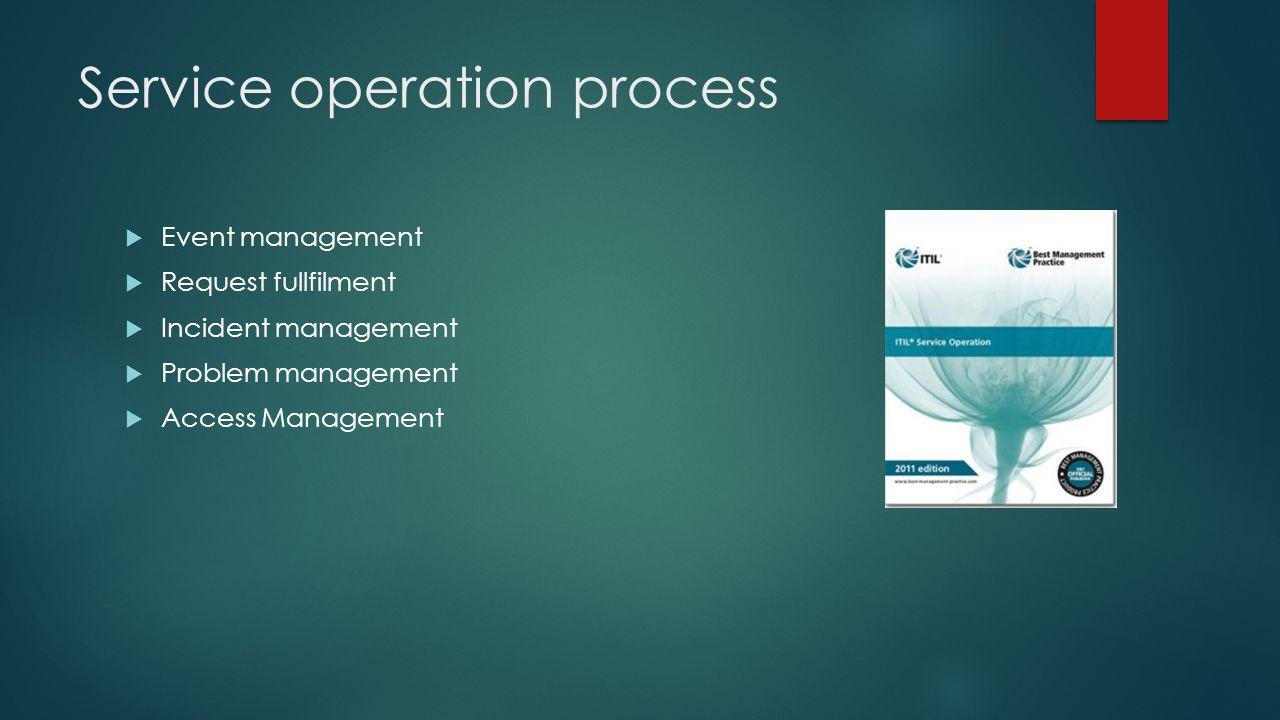 Service operation process