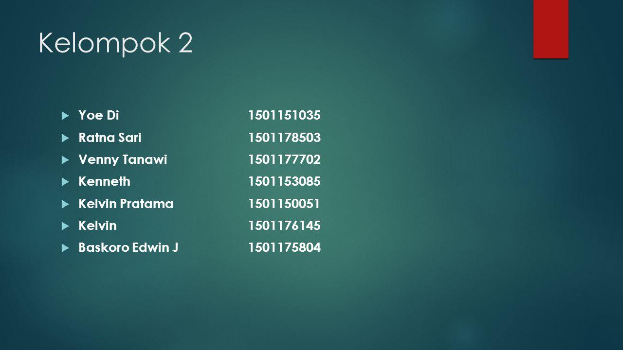 Kelompok 2 Yoe Di 1501151035 Ratna Sari 1501178503