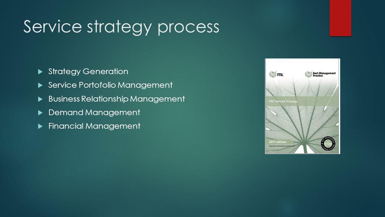 Service strategy process
