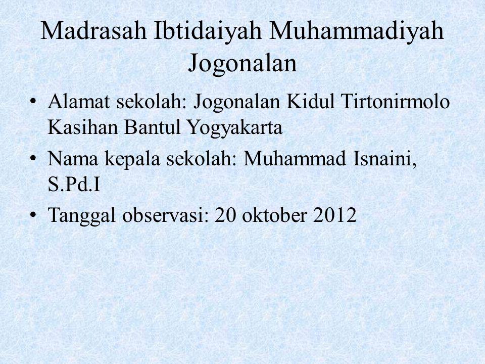Madrasah Ibtidaiyah Muhammadiyah Jogonalan