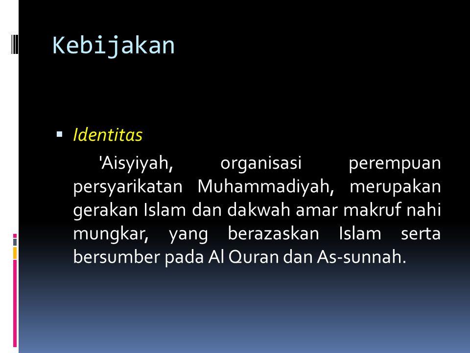 Kebijakan Identitas.