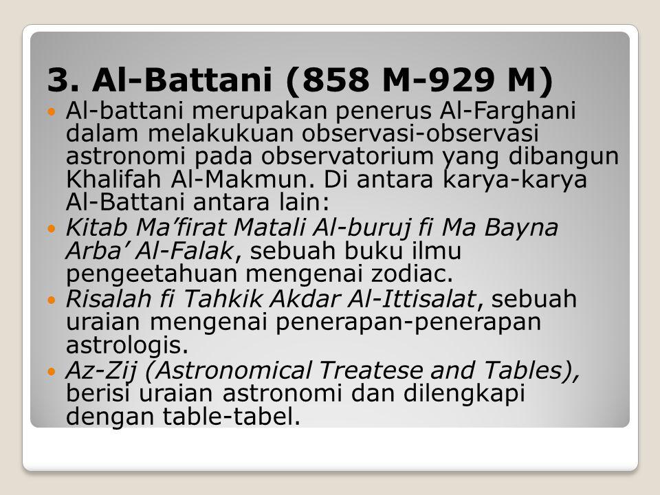 3. Al-Battani (858 M-929 M)