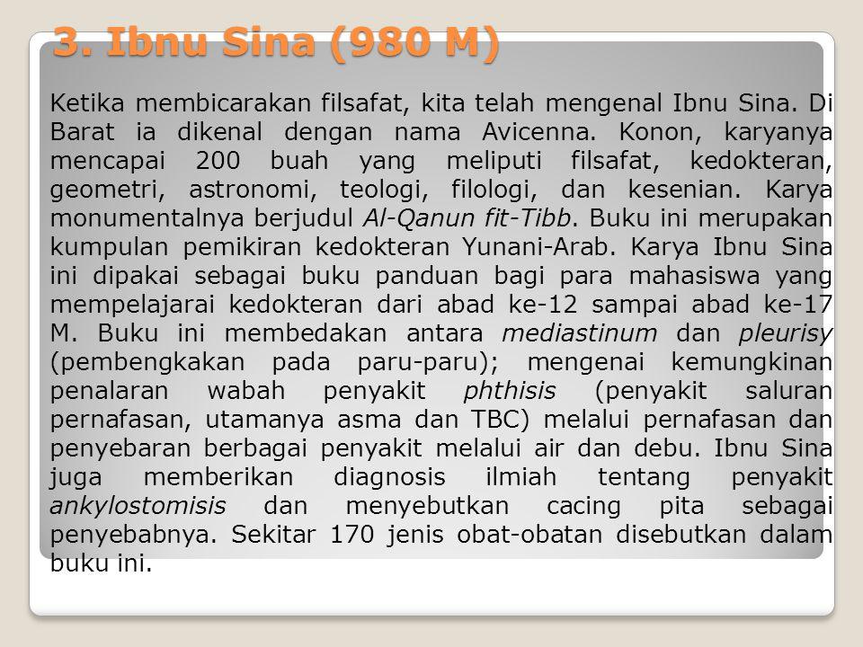 3. Ibnu Sina (980 M)