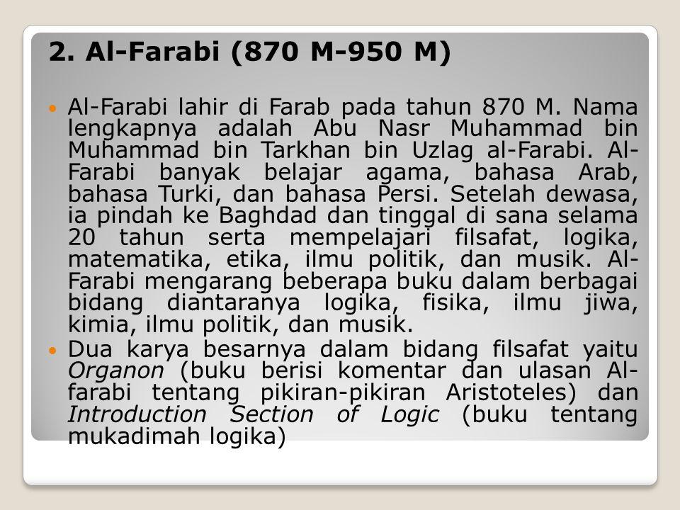 2. Al-Farabi (870 M-950 M)