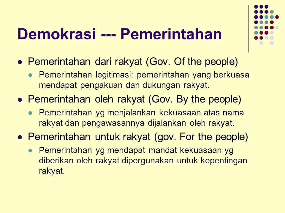 Demokrasi --- Pemerintahan